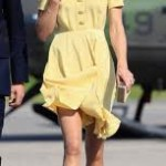 Colori estate 2011, Kate Middleton si veste di giallo in Canada